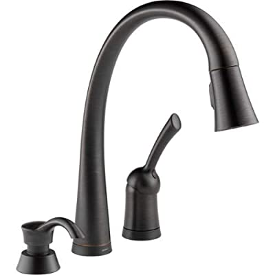 Delta 980T-SD-DST Pilar Pull-Down Kitchen Faucet with On/Off Touch Activation, M,