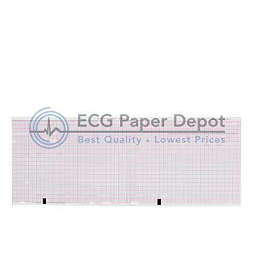 Burdick Ekg Machines - Mortara ELI 150 EKG Machine Paper - 108mm X 140mm X 200 Sheets (5 Packs)
