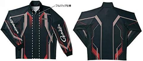 がまかつ(Gamakatsu) フルジップトーナメントシャツ ブラック/レッド LL GM3569 ブラック/レッド LL