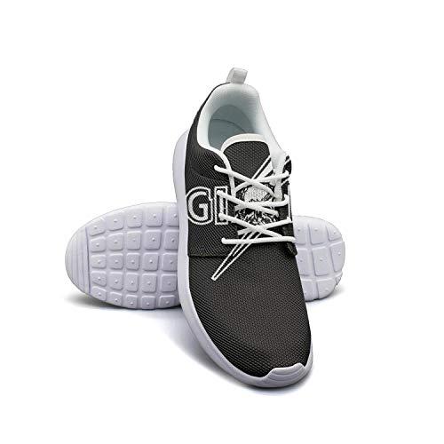 Yang-C Womens Walking Athletic Shoes Black-Label-Society-Skull- Comfort Casual Sneaker Trail Running Shoe