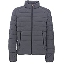 Save The Duck Mens Short Heather Solid Stretch Coat