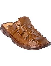Brixton bigold02 Mens Slip-On Sandal Leather-Slide