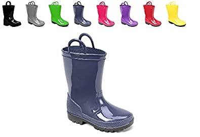 Amazon.com | Ska Doo Kids Toddler Rain Boots Assorted Colors | Boots