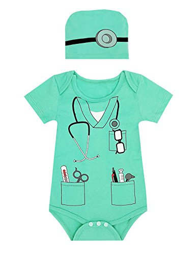 Paddy Field Baby Boys' Doctor Costume Bodysuit (0-3 Months, Doctor) -