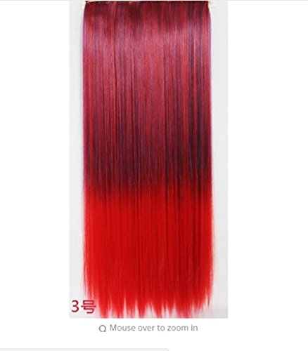 [dolly2u 4/5 Clips Heat Resistant Fiber Synthetic Hair Extensions Straight T Color More Colors Womens High Temperature] (Fever Hole In One Costumes)