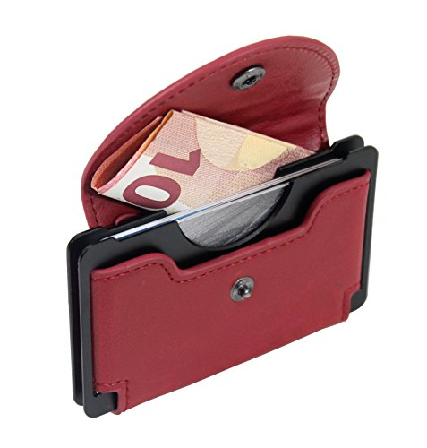 noir Portefeuille rfid Style Rouge Porte carte Anti Alistair wRTqYYXt