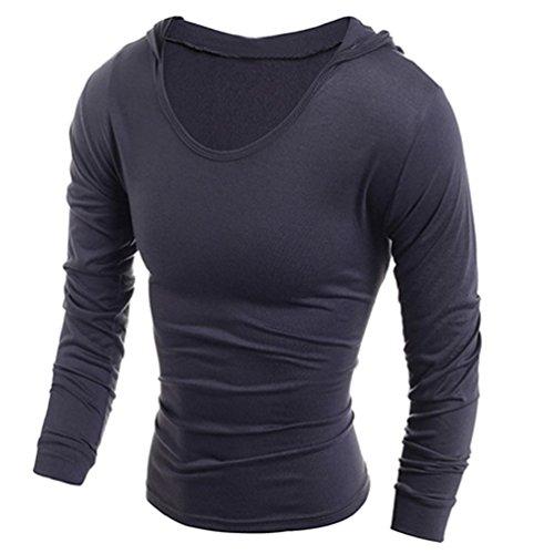 Alcyoneus Medium Shirt Homme Manches À Foncé Longues Gris a1qAa