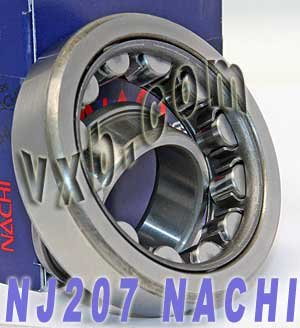 NJ207 Nachi Cylindrical Roller Bearing Steel Cage Japan (Nachi Cylindrical Roller Bearing)