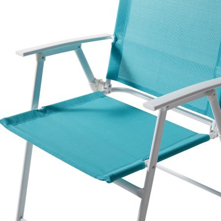 Mainstays Pleasant Grove Sling Folding Chair, Set of 2 Teal