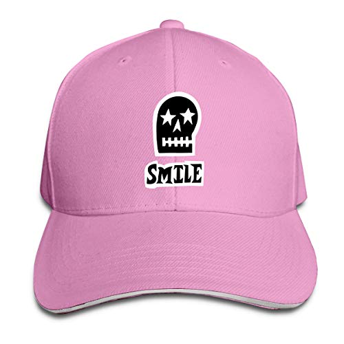 Adult Smile Sull Cotton Lightweight Adjustable Peaked Baseball Cap Sandwich Hat Men Women