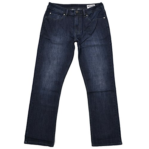 Mens Basic Jean (Buffalo David Bitton Mens Driven-X Basic Straight Stretch Dark Stonewashed Jeans (34x30, Blue))