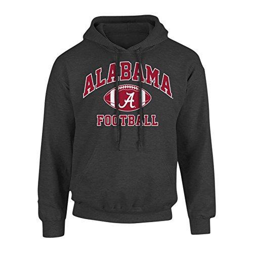 (Elite Fan Shop Alabama Crimson Tide Hoodie Sweatshirt Charcoal - XL - Charcoal Gray)