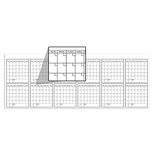 large discount save up to 80% temperament shoes Large Oversized Yearly Wall Calendar - 36