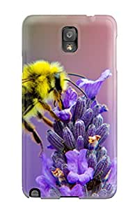 New Style New Honey Bee Lavendar Nectar Protective Galaxy Note 3 Classic Hardshell Case