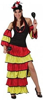 Juguetes Fantasia - Disfraz rumbera caribeña adulto: Amazon.es ...