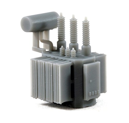 2-Pack N Scale Railroad High Voltage Oil Filled Electric Power Transformer model