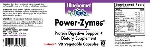 Amazon.com: Bluebonnet Nutrición power-zymes, 743715009004 ...