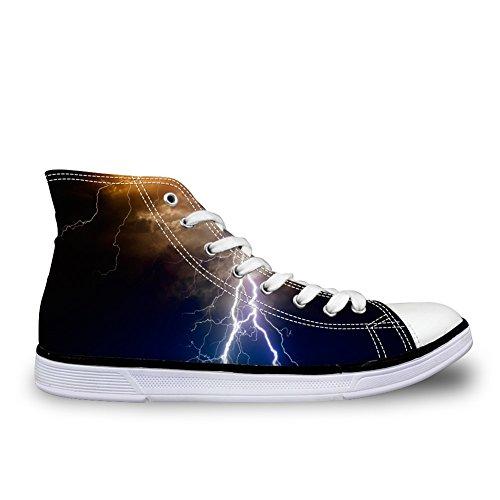För U Designar Mode Mens Höga Topp Snörning Sneakers Andas Avslappnad Tygskor C0676ak