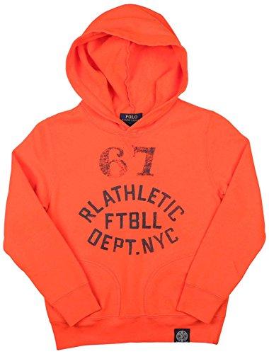 Polo Ralph Lauren Boys Graphic Hoodie (M(10-12), Bittersweet Orange) (Sweatshirt Ralph Boys Lauren)
