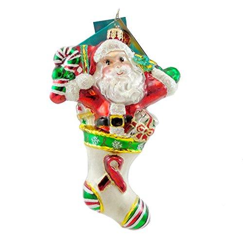 Christopher Radko HERE TO CHEER Blown Glass Ornament Ltd Ed Aids 2007 Santa