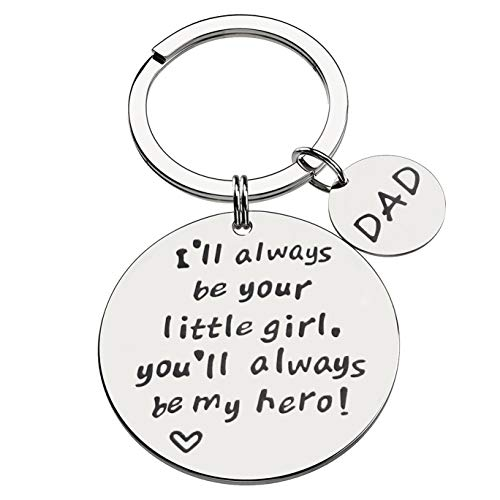 Chalier Father's Day Keychain Mens Novelty Stainless Steel Keychain Gift for Father Daddy Papa - Fathers Day Keychains