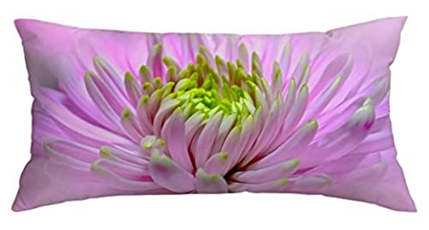 Pink Daisy Flower Customized Home Decoration Polyester Pillow Cover Case 16 X 40 Inch (Bench Cushion Indoor 40 Inch)