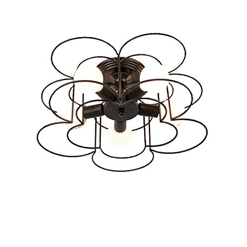 FEE-ZC Iron Art Ceiling Ligh Flora Shade Simple Chandelier Modern Nordic Elegent Vintage Industry Pendant Light Indoor Cafe Corridor, A