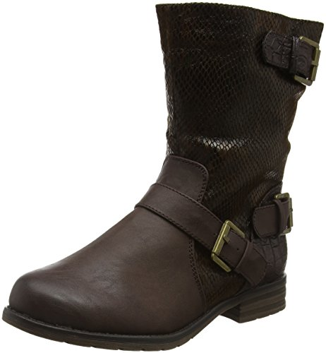Cali Print Lotus brown Bottines Femme Marron pdSdP8