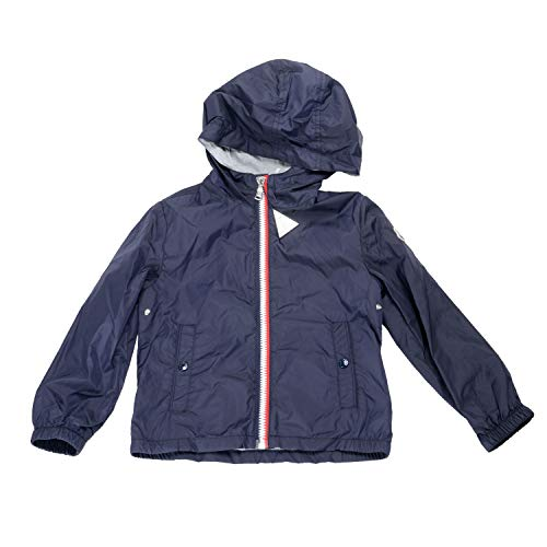 Moncler Kids's Blue Hooded Windbreaker Jacket Moncler sz 4A US 4 Years ()