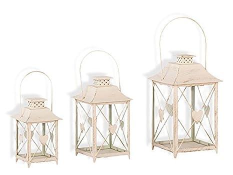 Portacandele Da Giardino : Lanterna con cuore set di portacandele da giardino candela