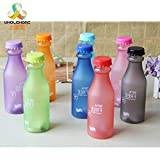 Vistaric 550mL High Quality BPA Plastic Frosted Leak-Proof Portable Water Bottle for Outdoor Sport Running Camping: China, 550ML