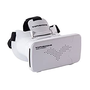 "3D VR Headset,Topmaxions™ 3D Virtual Reality Mobile Phone 3D Movies for Apple Phone 6s/6 plus/6/5s/5c/5 Samsung s5/s6/note4/note5 and Other 3.5""-6.0"" Cellphones"