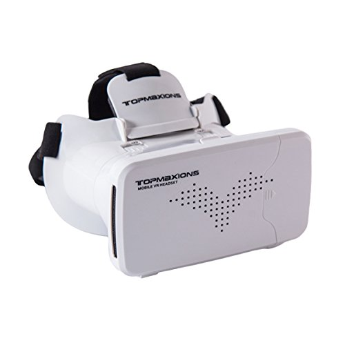 "3D VR Glasses,Topmaxions™ 3D Virtual Reality Mobile Phone 3D Movies for Apple Phone 6s/6 plus/6/5s/5c/5 Samsung s5/s6/note4/note5 and Other 3.5""-6.0"" Cellphones"
