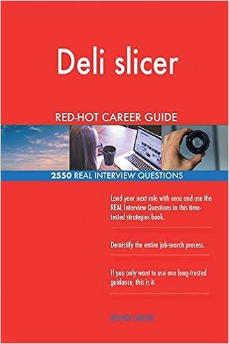 Deli slicer RED-HOT Career Guide