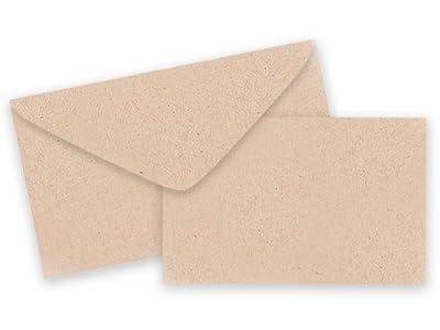 Pack of 25 Sets Plain Kraft Card / Envelopes Gift Enclosure Cards Recycled Made USA