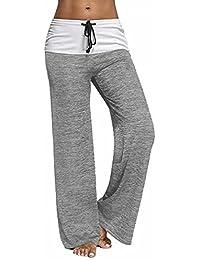 Women's Casual Stretch Comfy Soft Wide Leg Yoga Lounge Pants