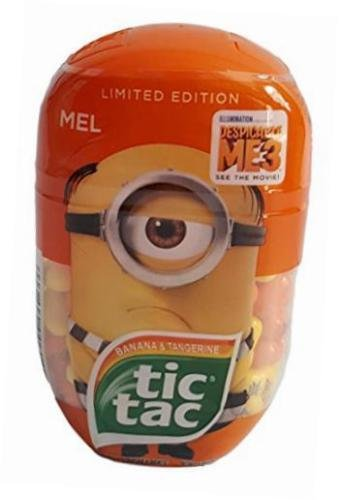 Tic Tac Limited Edition Despicable Me 3 Banana Tangerine Flavored Mints
