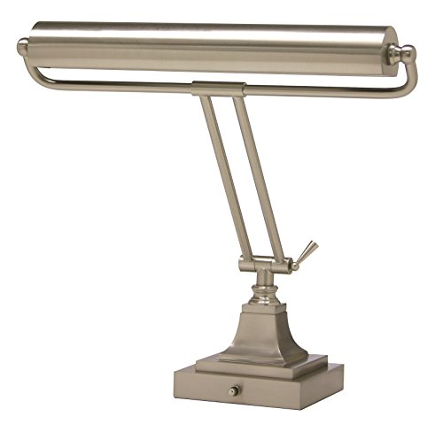 Satin Nickel Piano - House of Troy P15-83-52 16-Inch Portable Desk/Piano Lamp, Satin Nickel Finish