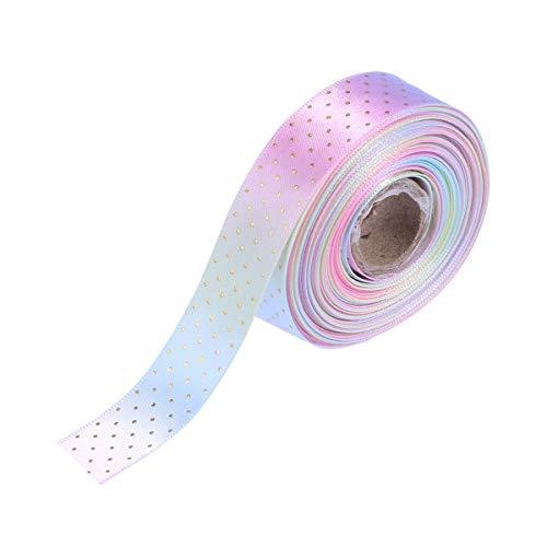 SUPVOX Grosgrain Ribbon Gift Wrapping Ribbons Printed DIY Satin Ribbons for Crafts Packaging Hair Bow Ribbons Wedding Birthday Party Decorations 10 Yards