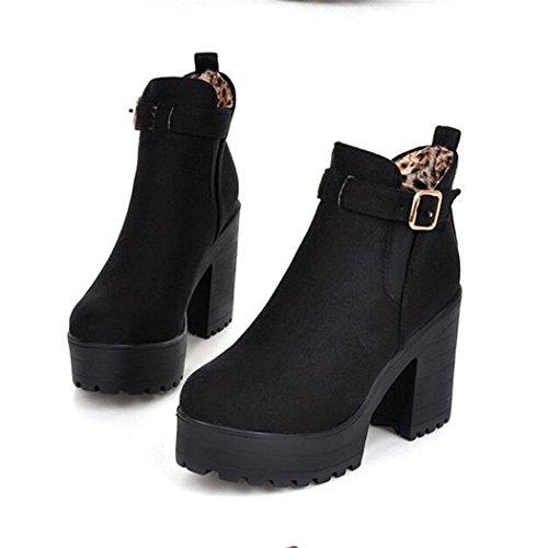 scarpe QX corto con alti fashion autunno dello ladies i e boot in ladies tonda impermeabile Taiwan nude Cilindretto e testa black spessore stivali ZQ inverno In di con tacchi versatile 6nxWUdZd