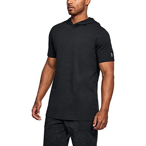 Short Sleeve Hooded Tee (Under Armour Men's Baseline Short Sleeve Hooded Tee, Black/Steel, X-Large)