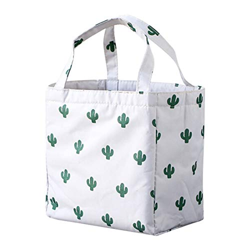 Price comparison product image DSDY Lunch Box Bag Canvas Portable Insulation Bag Aluminum Foil Thickened Lunch Bag