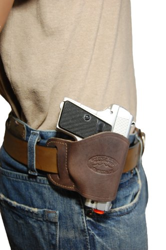 Used, Barsony New Brown Leather OWB Yaqui Style Holster for for sale  Delivered anywhere in USA
