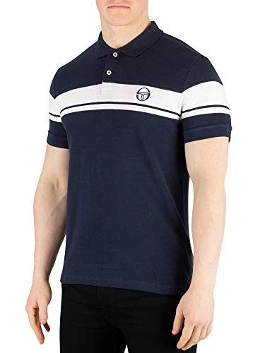(Sergio Tacchini Men's Young Line Poloshirt, Blue, L)