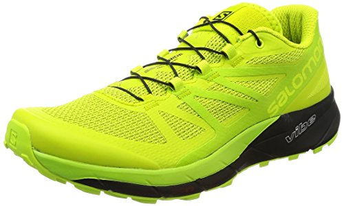 Scarpa Da Running Da Corsa Senso Salomon - Mens Lime Punch / Lime Green / Black