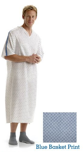 Hospital gown DELUXE BLUE BASKET