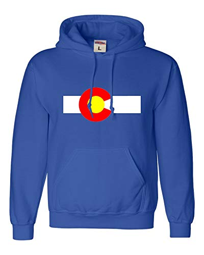 Go All Out Large Royal Blue Adult Colorado State Flag Sweatshirt Hoodie