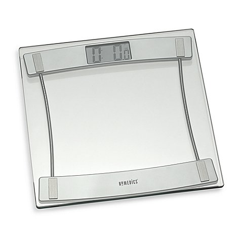 HoMedics Glass Digital Bathroom Scale 405, 11.25