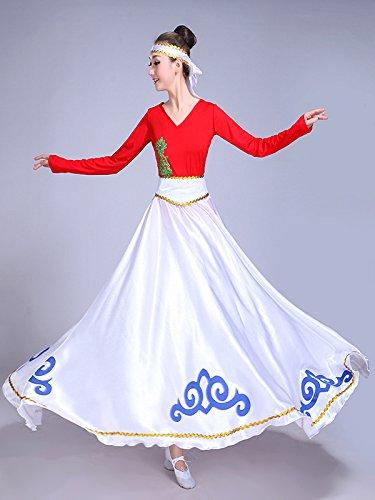 de danse ventre Tribal du Jupe Performance Party indienne Gypsy longue Backgarden Blanc robe SqwnR5TUU