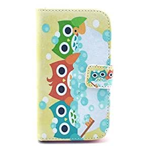 SOL Shower Colorful Owl Pattern Soft Case for Samsung Galaxy Core I8262